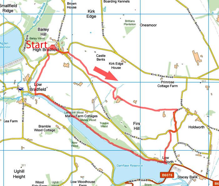 Holdworth walk map