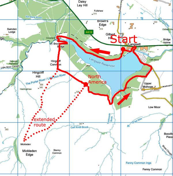 Langsett walk map