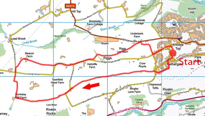 Stannington walk map
