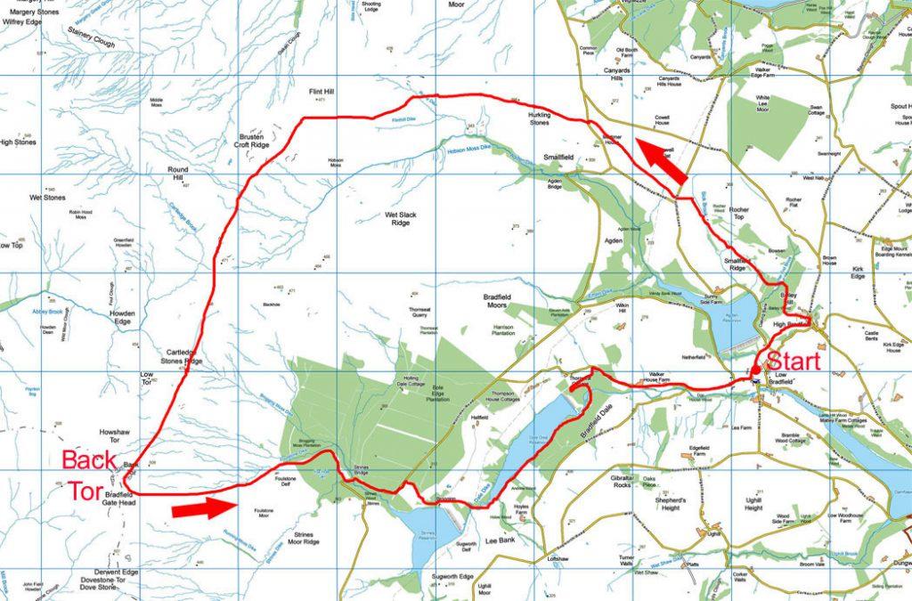 Dukes Road walk map