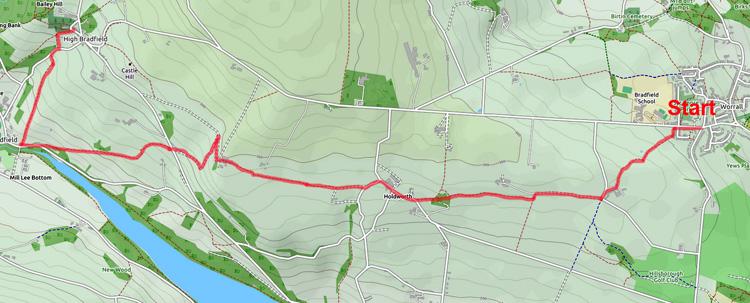 Bradfield Ancient way map