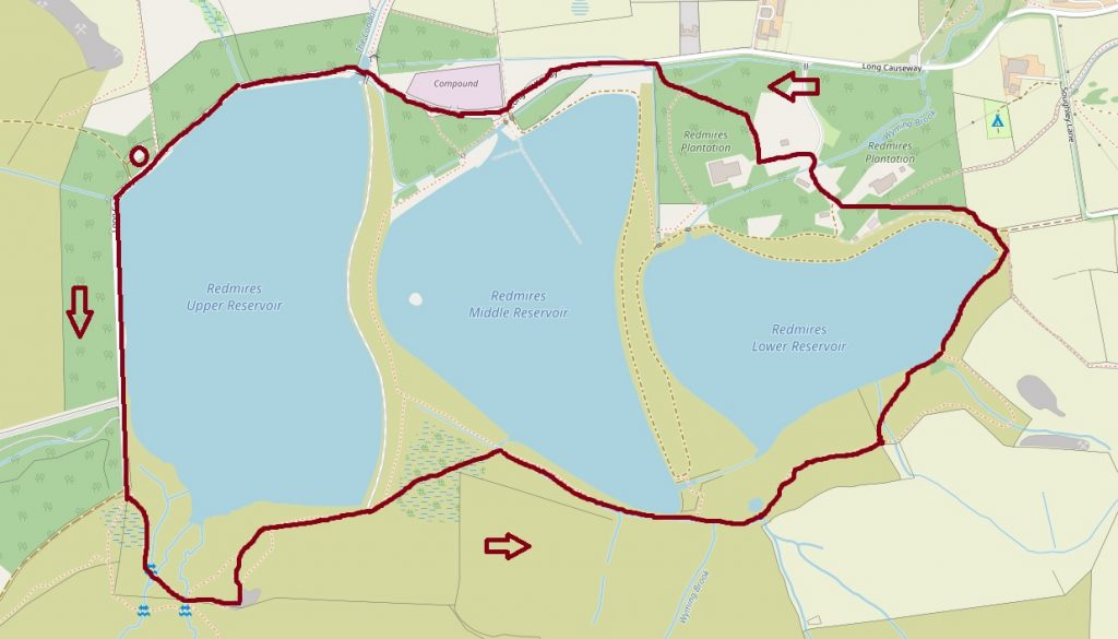Redmires Circular walk map